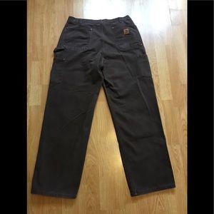 Men's Carharrt dark brown dungarees